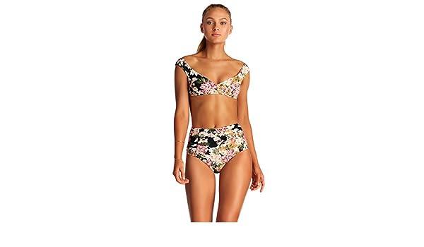 4232f1bffbd78 Amazon.com  Vitamin A Women s Ambrosia Capri Off The Shoulder Bikini Top  Ambrosia 12  Vitamin A  Clothing