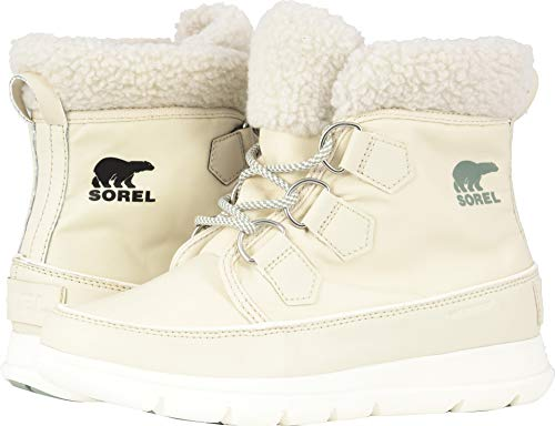 SOREL Women's Explorer Carnival Boots, Fawn/Sea Salt, 6 M US