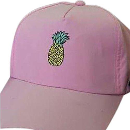 béisbol Xianshu Sport Casual piña unisex Gorra sombrero de impresión Rosa Bq8qnv