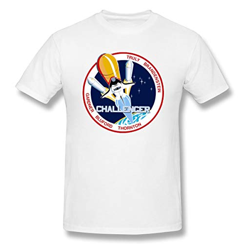 ZOE-SHOP Vintage NASA Challenger Men's Short Sleeve Crew Neck Graphic T-Shirt