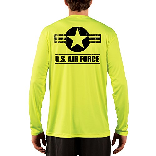 Dead Or Alive Clothing Men's U.S. Air Force UPF 50+ Long Sleeve T-Shirt X-Large Safety Yellow ()