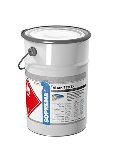 ALSAN PMMA Flü ssigkunststoff - 770 TX 10,0 kg/Gebinde - RAL 7035 lichtgrau - 2-komponentig inkl. Katalysator | schnellhä rtendes Abdichtungsharz zur Ausfü hrung von Details und Anschlü ssen an aufgehenden Bauteilen - erfü llt alle