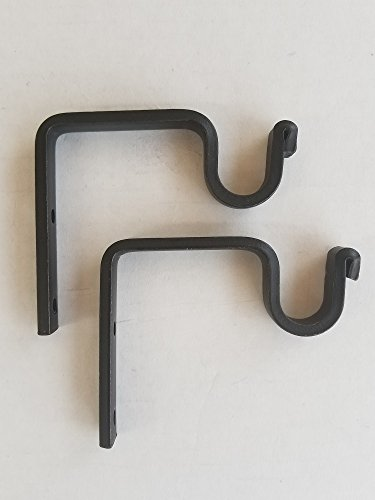 Wrought Iron Wall Hooks (Set Of Two) - Hand Made by the Amish Of Lancaster County PA. ()