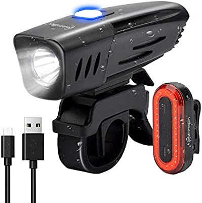 BRIVIGA - Juego de luces LED para bicicleta (900 lúmenes, luz ...