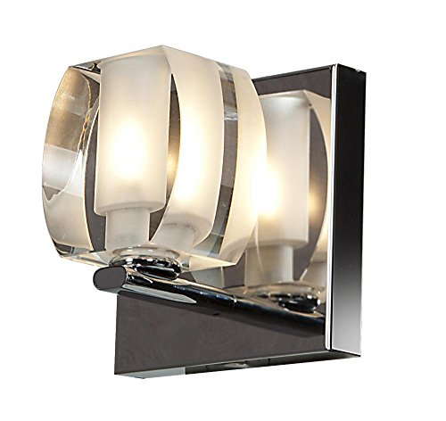 Evia - 1-Light Vanity - Chrome Finish - Crystal Glass Shade