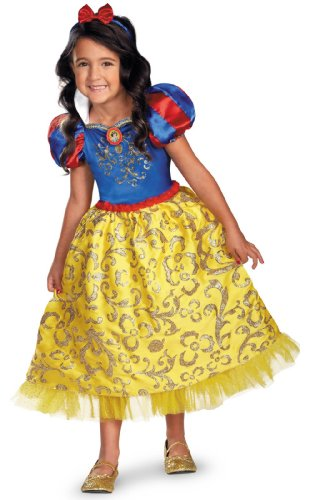 [Snow White Sparkle Deluxe Costume - Medium] (Disney Character Costumes Ideas For Adults)