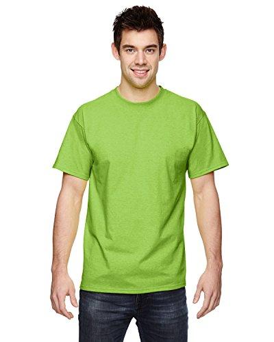 (Fruit of the Loom 5 Oz, 100% Heavy Cotton HD T-Shirt, Medium, Neon Green)
