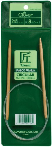 Clover 3016/24-03 Takumi Bamboo Circular 24-Inch Knitting Needles, Size 3