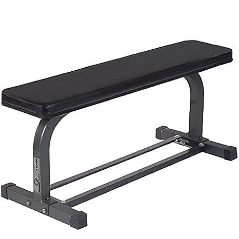 Keys Fitness Fixed - Banco (banco de ejercicio, presión pectoral, heavy duty, prensa de hombros), color gris: Amazon.es: Deportes y aire libre