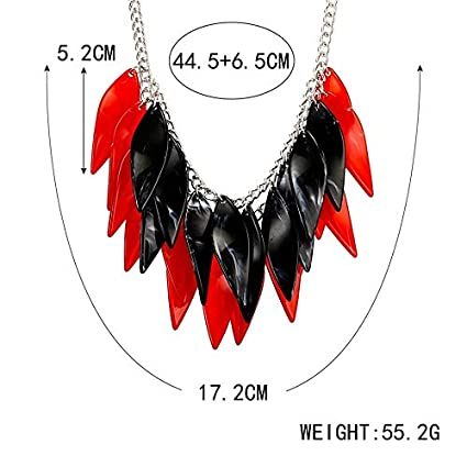 Metal Color: Black Davitu Womens Multi Layers Necklace for Women Geometric Necklaces /& Pendants Acrylic Statement Necklace New Jewelry for Gifts NR090