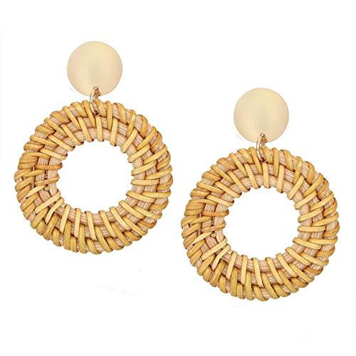 Peigen Bohemian Dangle Earrings with Charms Pearl Drop,Lightweight Boho Earrings for Women Girls,Hoop Earrings