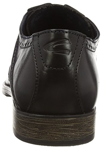 camel active Como 12 - Zapato brogue de cuero hombre negro - Schwarz (black/grey/midnight)