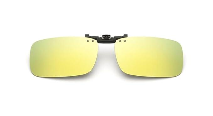 UK1stChoice-Zone Hombre Mujer Unisex Polarizado Clip en Las Gafas de Sol CLIPON1302 (Oro Mercurio)