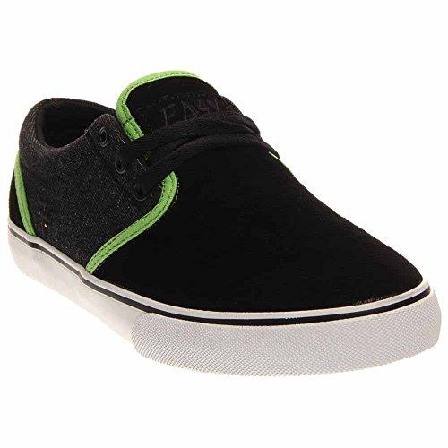Fallen Men's The Easy Skateboard Shoe, Black/Psych Green, 11.5 M US by Fallen