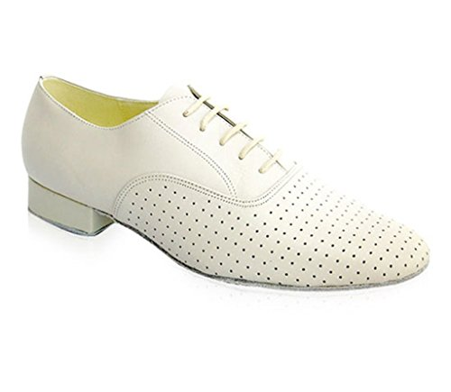 Minitoo Men's Style Swing Leather Ballroom Tango Latin Dance Shoes White GZeBCYmD