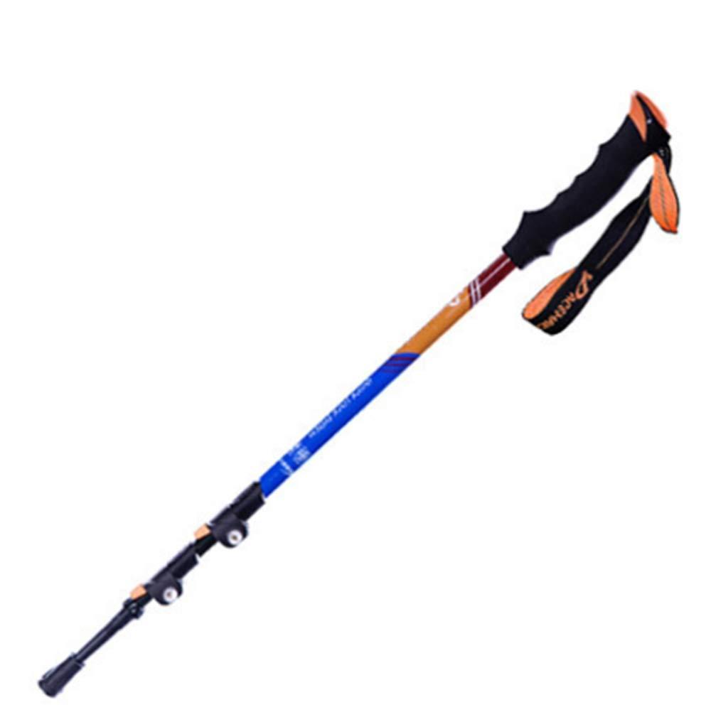 WCS Männer und Frauen im Freien Trekkingstange Ultraleichte Carbon Folding Crutch (Farbe : Blau)