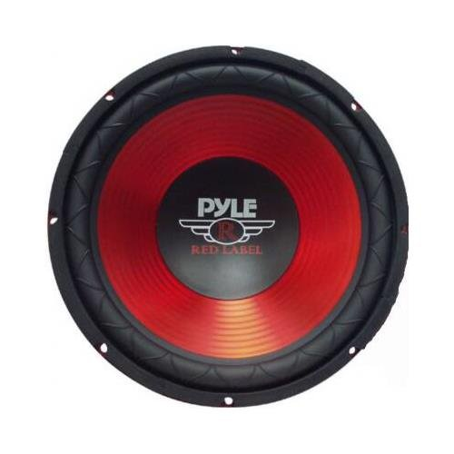 Pyle 10in Red Cone High- Pyle 6.5in Gear Cmpnt Spkr Sys PLW-10RD
