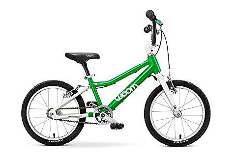 "Woom 3 Pedal Bike 16"", Ages 4 to 6 Years, Green - Gravity 16 Inch Bike"