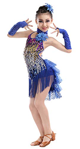 Kid Girls Tassel Dance Outfits Dancing Performance