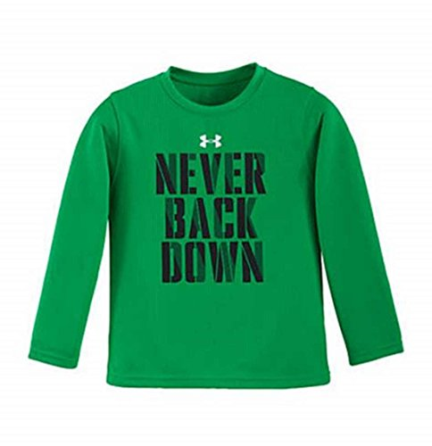 Under Armour Boys Never Back Down Waffle L/S (Green, 6)