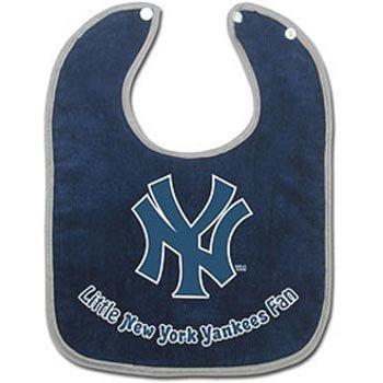 New York Yankees Baby Clothing (MLB New York Yankees Colored Snap Baby Bib)
