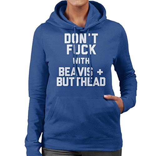 Blue Hooded With Dont Beavis And Butthead Sweatshirt Royal Coto7 Women's Fuck wvR0q7F
