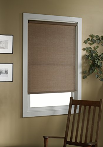 Green Mountain Vista Deluxe Woven Cane Paper Roller Shade, 60 by 72-Inch, Cocoa