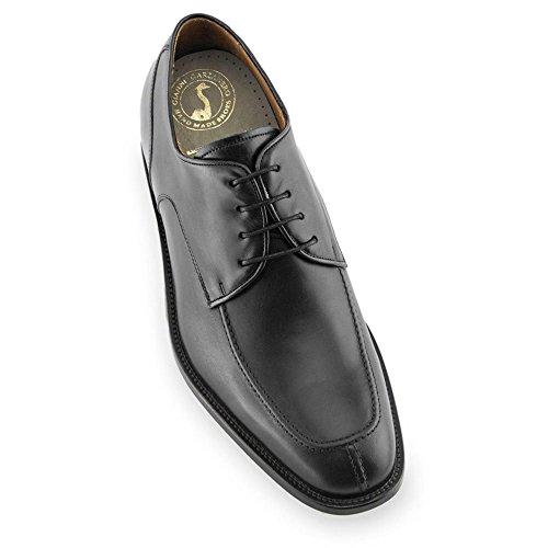 Masaltos Scarpe con Rialzo da Uomo Che Aumentano l'Altezza Fino a 7 cm. Fabbricate in Pelle. Modello Westport Nero