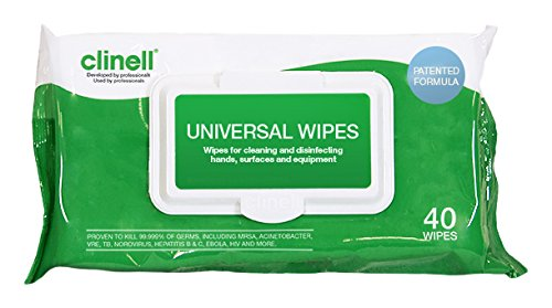 Clinell Universal Sanitising Wipes 40