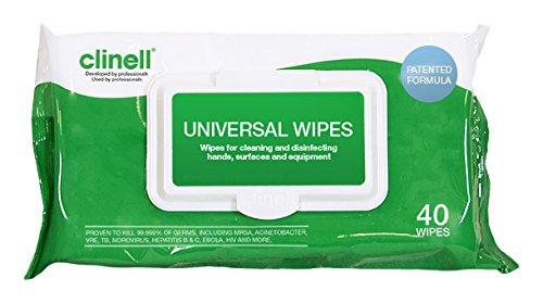 Toallitas Universales Clinell. Paquete de 40.: Amazon.es: Industria, empresas y ciencia
