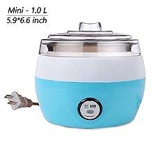 Dream's Story Household Automatic 1.0 Liter Stainless Yogurt Maker Machine Electric Automatic Fruit Yogurt Maker (Blue)