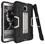Galaxy Tab A 8.0 2018 Case, Dooge 3 Layers PC Silicon Armor Defender Heavy Duty Shock-Absorption Rugged Hybrid Protective Case with Kickstand for Samsung Galaxy Tab A 8 (2018) SM-T387 Verizon/Sprint