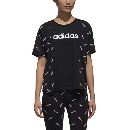 Over Tee Print bianco All Nero Adidas Yq01U