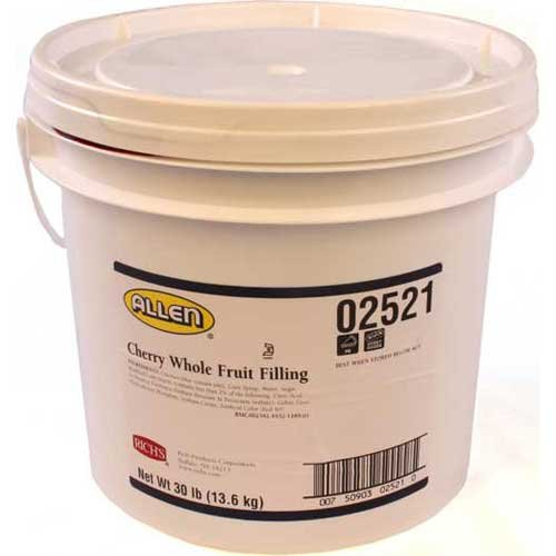 Rich JW Allen Whole Cherry Fruit Filling, 30 Pound -- 1 each. by Rich Products Corporation (Image #1)