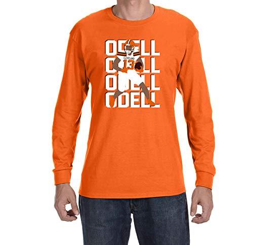 - Tobin Clothing Orange Cleveland Odell Text Pic Long Sleeve Shirt Adult XL