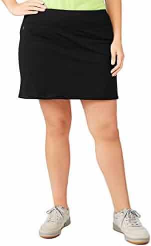 fc041b51da Danskin Now Women's Plus Size Adjustable Waist Hidden Pocket Basic Knit  Skort