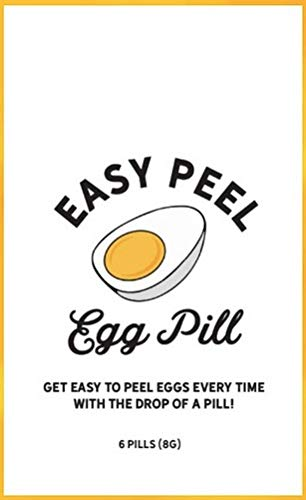 Easy Peel Egg Pill - Easy to Peel Hard Boiled Eggs. Remove Egg Shell Easily for Perfectly Peeled Eggs! Just Add to Boiling Water! (Best Time To Peel A Hard Boiled Egg)