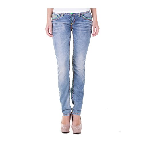 """Cipo & Baxx Damen Jeans """"445"""" denim Grösse: W30 - L32"""