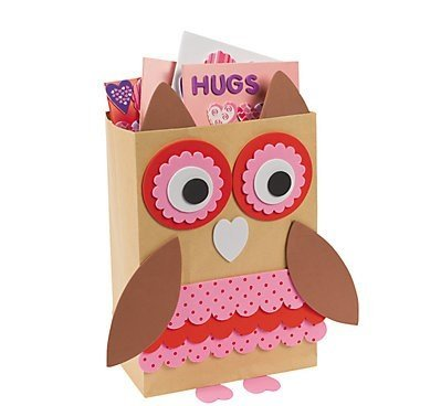 Valentine Classroom Sharing Owl Card Holder Box Craft Kit
