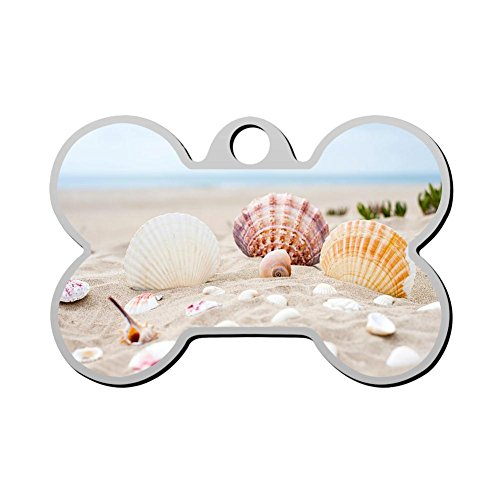 HAOPENGYOU Beach shells Pet Id Tags Personalized Custom, used for sale  Delivered anywhere in USA