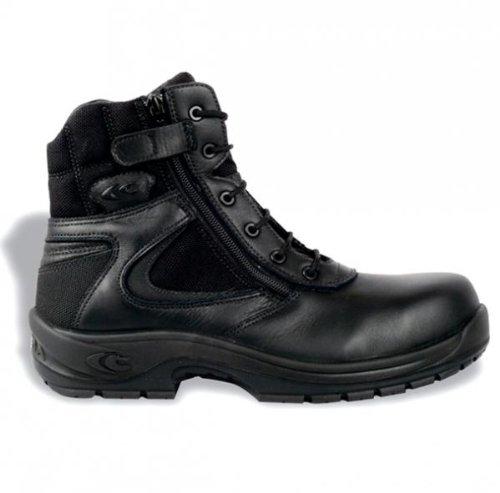 Cofra 10260-000 - La policía s3 bota de seguridad con cremallera lateral, negro