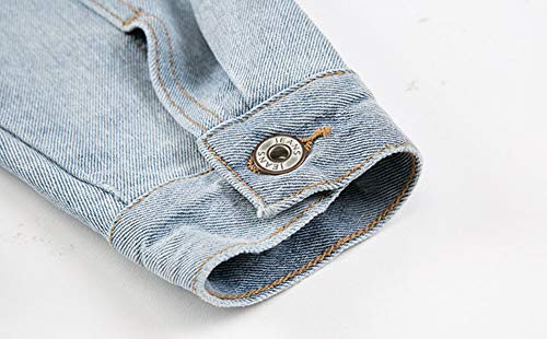 Mode DChir Manteau Courte Jeans Veste Jean en Femme LaChe qawU6w5