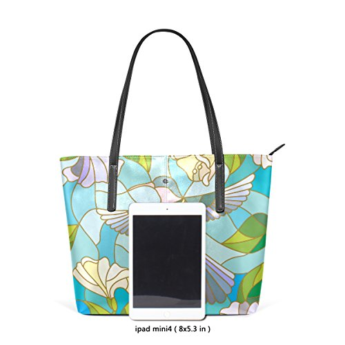 Women Hummingbird Leather On Colorful For Coosun Means Muticolour Sky Pu Bags Handbag Purse And Tote Background Bag 5qx6FYH