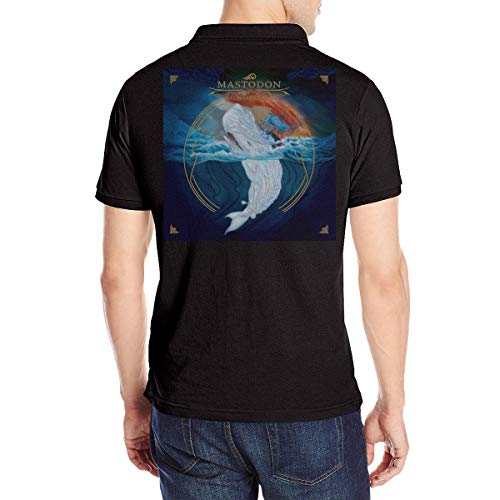 Mastodon Remission Deluxe Man Custom Short Sleeve Polo Shirts S Black