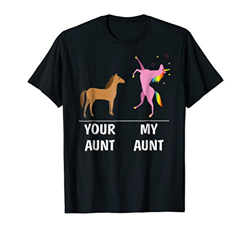 Girls Aunt T-shirt (Your Aunt Horse My Aunt Unicorn Funny T Shirt For Kids Tees)