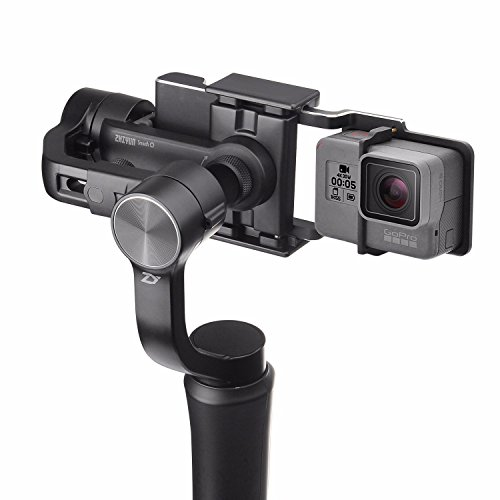 Zhiyun Smooth Q w/Plate, 3-Axis Handheld Gimbal Stabilizer for Smartphone & Gopro Hero 6/5 / 4/3 & Xiaomi Yi Action Camera Wireless Control Vertical Shooting Panorama Mode Smooth-Q Black
