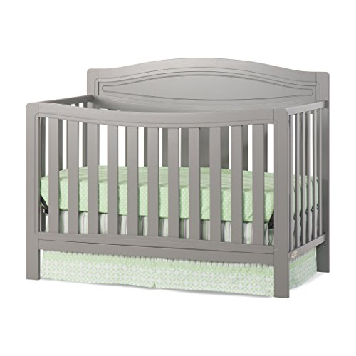 Child Craft Dresden 4-in-1 Convertible Crib, Cool Gray ()