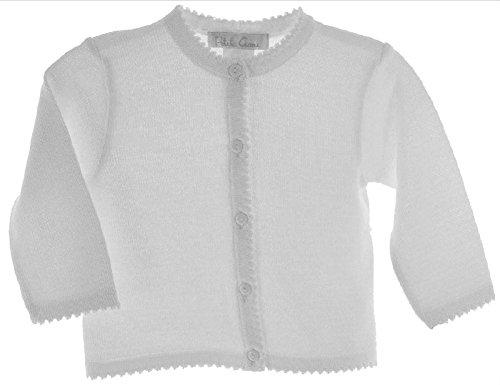Petit Ami Girls Cardigan Sweater White Toddler & 4-6X (4)
