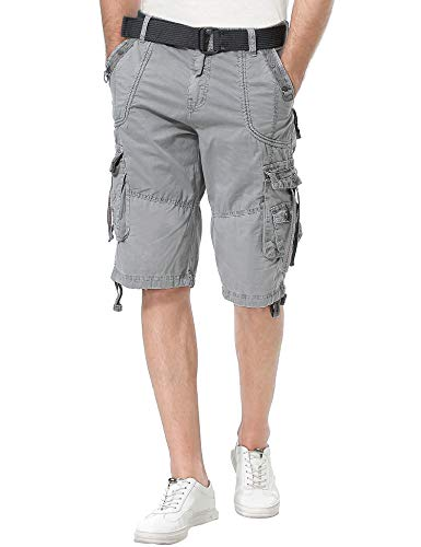 Resfeber Mens Cargo Shorts/Mens Loose Fit Athletic Twill Cargo Shorts Pants ASH-32 ()