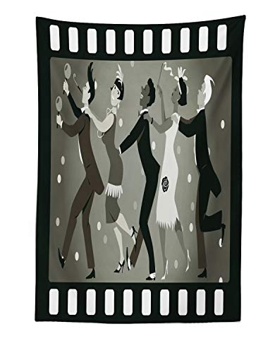 Lunarable Retro Tapestry, Old Fashioned People at a Party in Vintage 1920s Fashion Dancing Theatrical Film Design, Fabric Wall Hanging Decor for Bedroom Living Room Dorm, 30